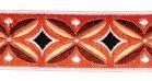 10m Indianer Retro-Borte 25mm breit Terracotta-Braun-Hellbraun-Weiss-Schwarz