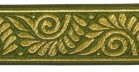 10m Mittelalter Borte Webband 35mm breit Farbe: Moosgrün