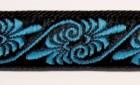 10m Jacquard Borten Webband 16mm breit Farbe: Schwarz-Blau